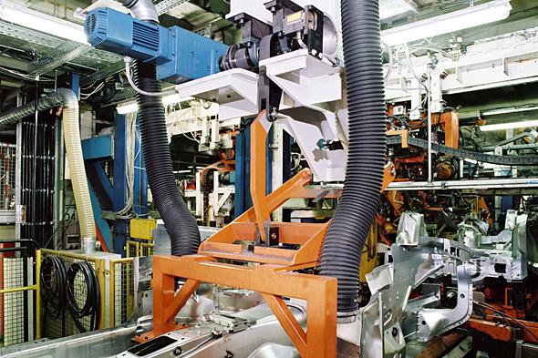 Vinkelväxelmotor i installation