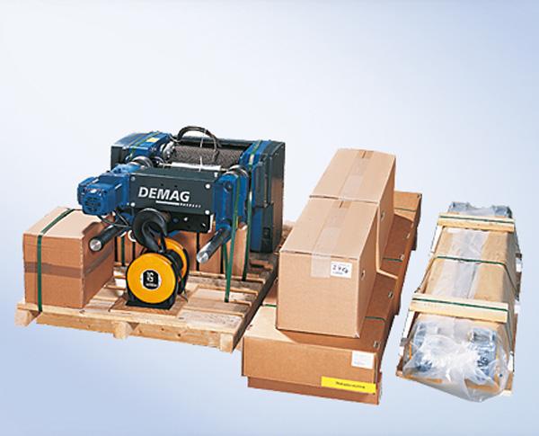 Speciellt konstruerade komponenter för utrustning av krananläggningar