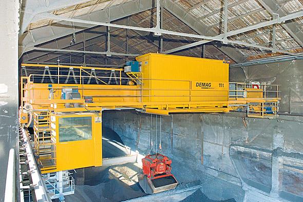DEMAG processkran för bulkgods och återvinning