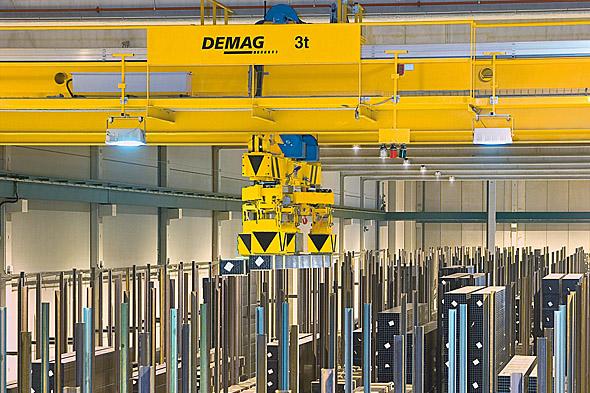 DEMAG Processkranar för stålhantering