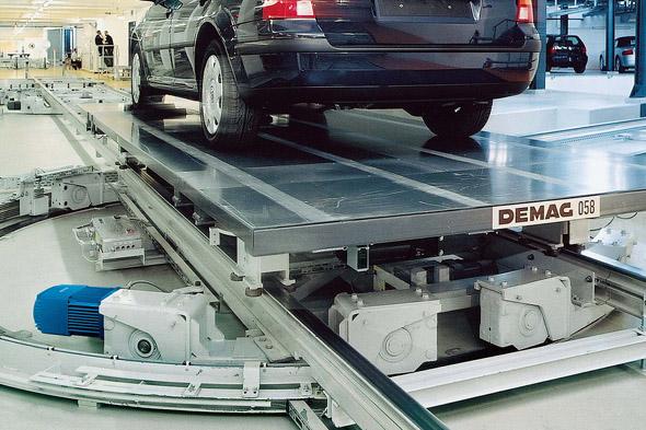 Hjulblocksystem RS i arbete med bil