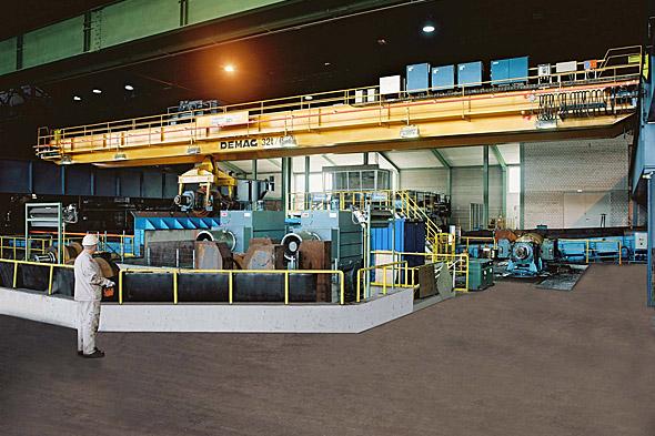 Processkran för stålframställning