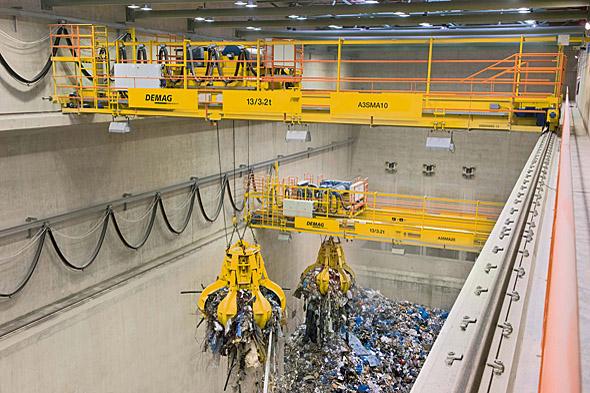 Processkranar för bulkgods och återvinning