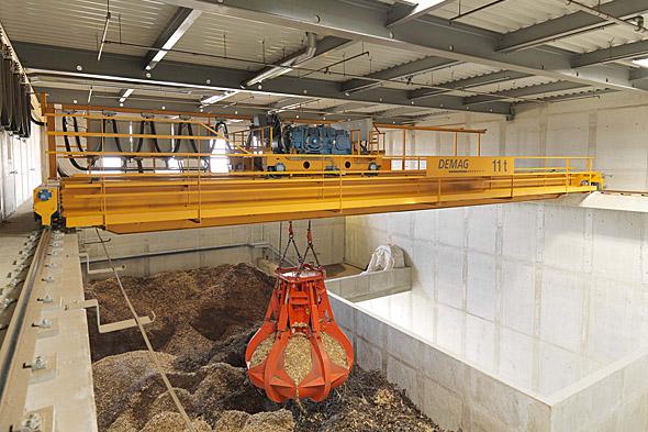 Processkran för bulkgods och återvinning