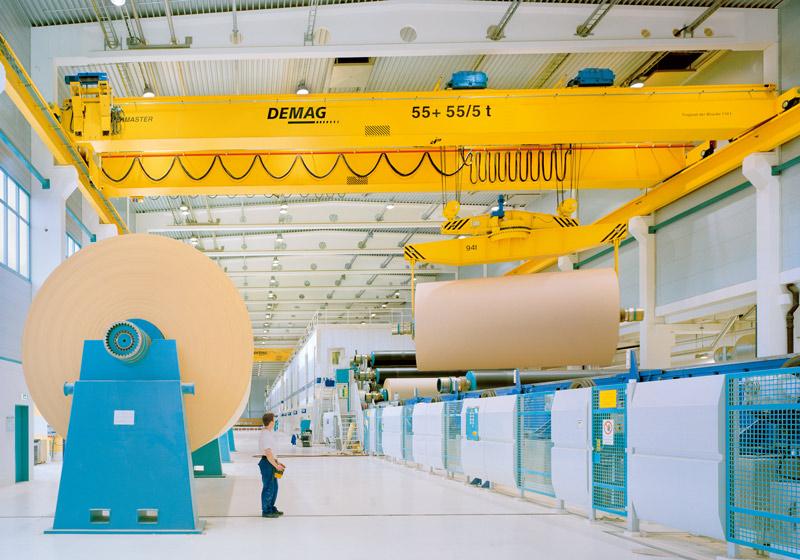 Processkranar för pappersindustrin
