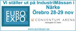 Vi ställer ut på IndustriMässan i Örebro